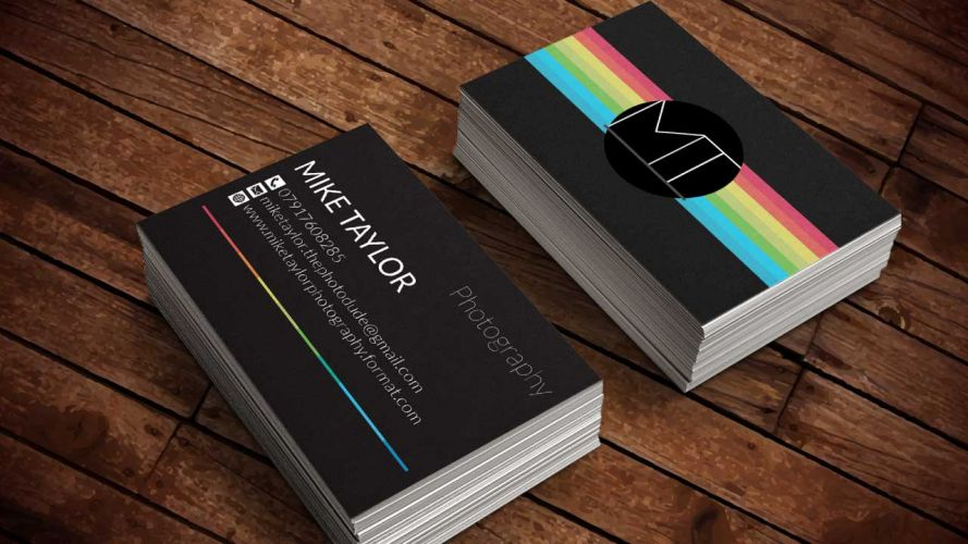Business Card Design for Mike Taylor Photography